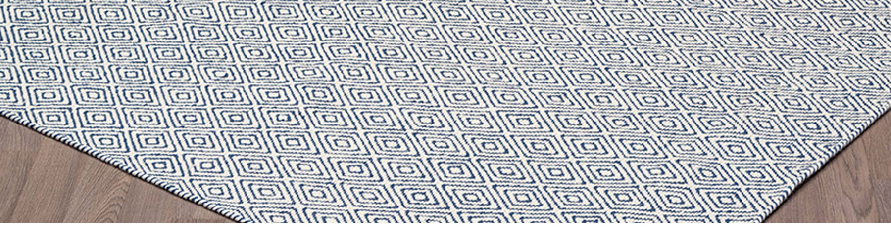 Chicago Ivoire et Marine - Carpette Tapis William