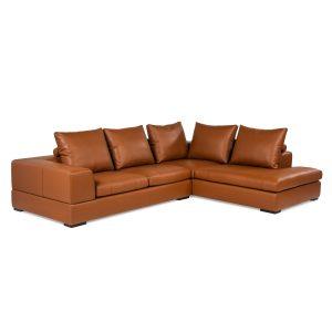 Lionel II - canapé modulaire et sectionnel en cuir fabriqué au Québec par William - divan, causeuse, sofa